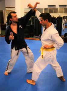 esempio di parata durante corso di jujitsu