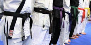 iscritti in fila del corso di jujitsu